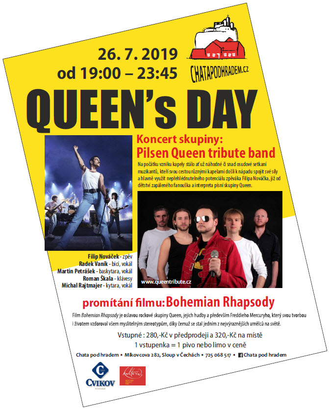 QUEEN´s DAY - koncert + letní kino